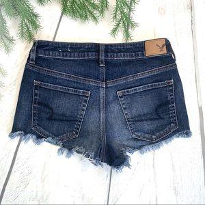 |•AEO🦅•| Vintage Hi-Rise Festival Cutoff Shorts